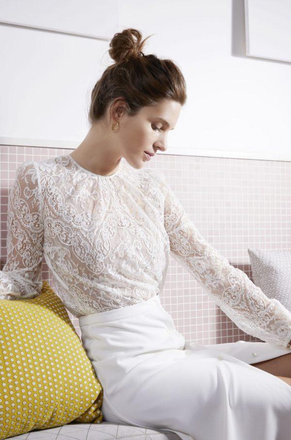 Anne de Lafforest - Robes de mariée -Paris - collection mariage civil 2020