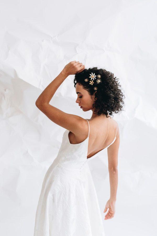 Anne de Lafforest - Pics à chignon de mariée - Robes de mariée - Paris