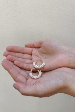 Boucles d'oreilles à perles