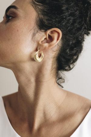 créoles torsadées or doré bijoux accessoires créateurs made in france