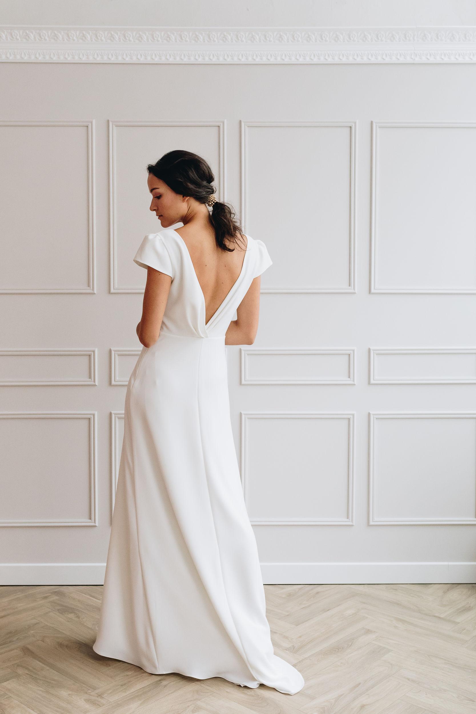 robe de mariée simple et élégante anne de lafforest