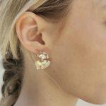 Boucles d'oreilles gingko plaqué or