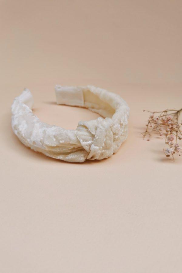 Serre-tête velours de soie tendance accessoire mariage témoin cheveux coiffure made in france