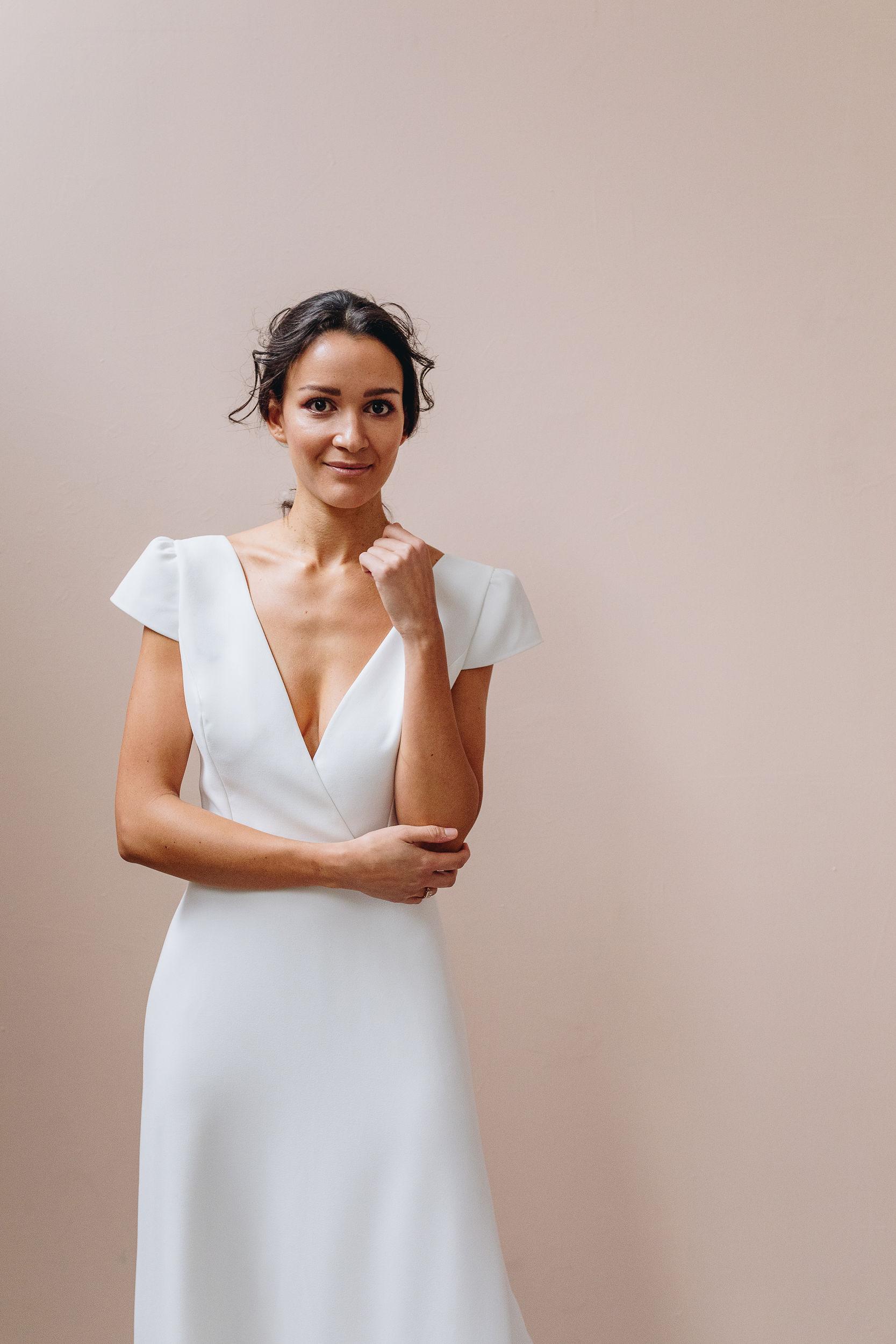 robe de mariée simple élégante