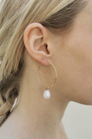 Créoles perle d'eau douce