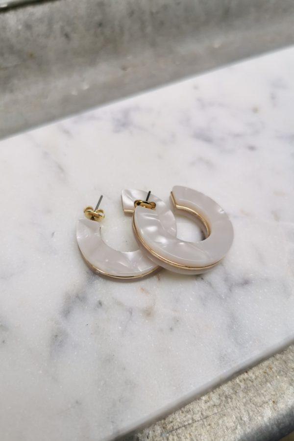 Boucles d'oreilles nacrées - Anne de Lafforest - Paris
