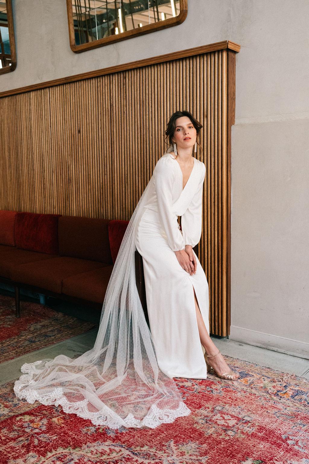 Babylon - Robe de Mariée et voile Anne de Lafforest